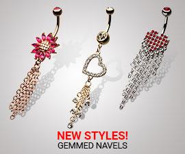 NEW STYLES!(GEMMED NAVELS-NSQ1522-NSQ1526-NSQ1523)